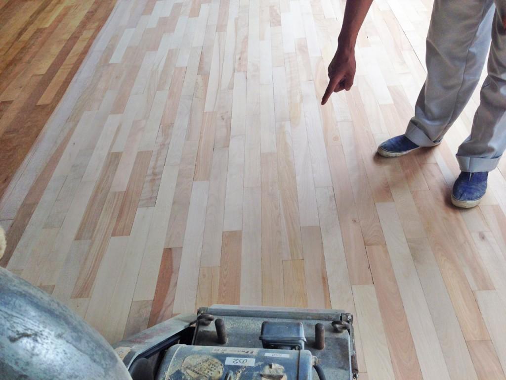 床研磨塗装(フロアーサンディング)研修