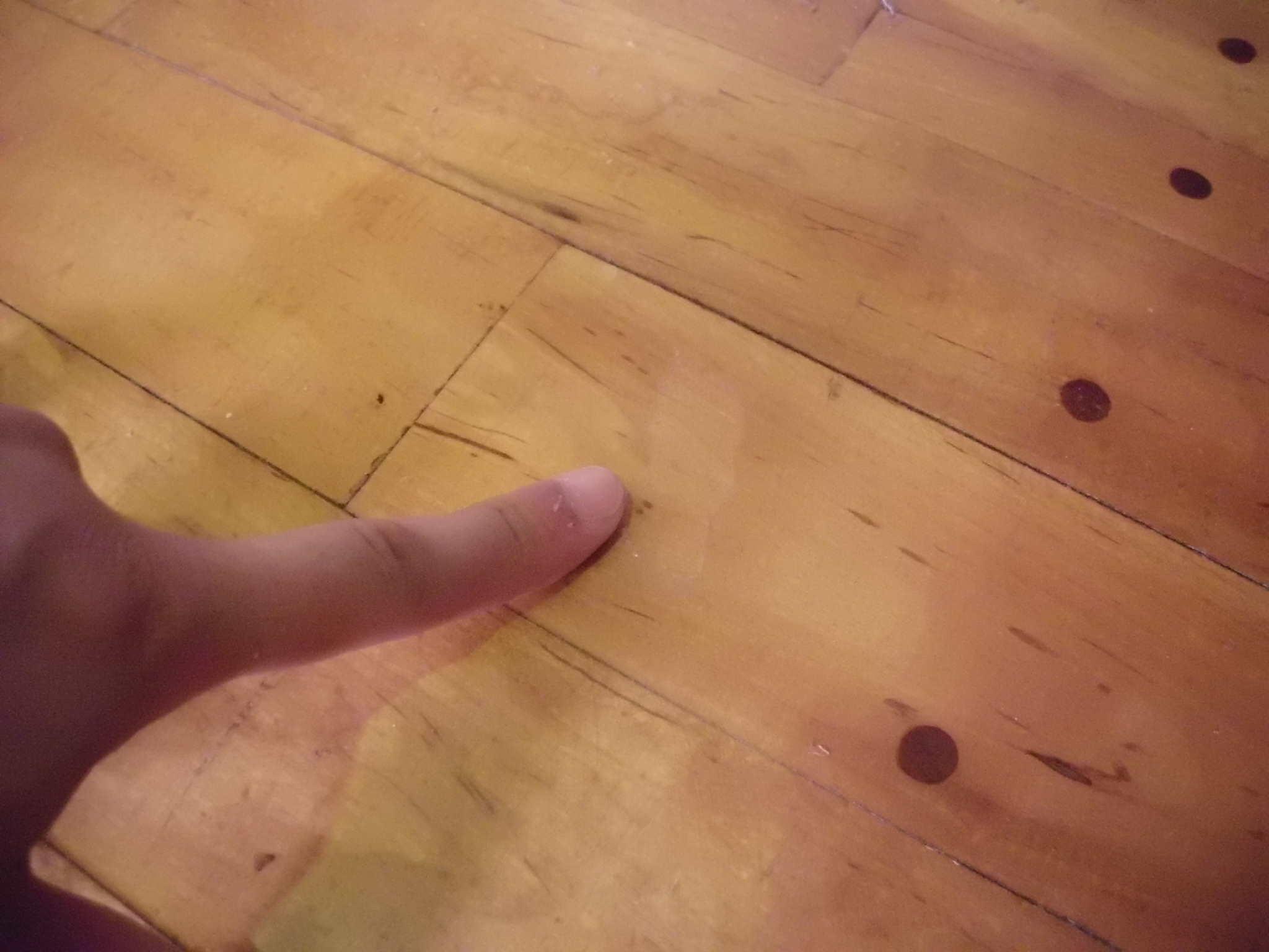 ワックスを塗り重ねたことで起きた剥がれや目地の浮き・剥離3